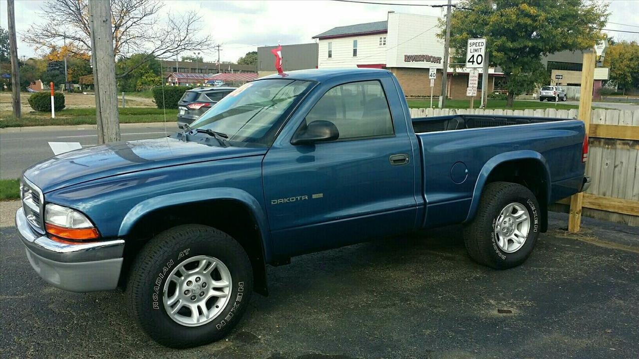 2002 DODGE DAKOTA SLT 2DR STANDARD CAB 4WD SB blue air conditioning rear only standard abs powe