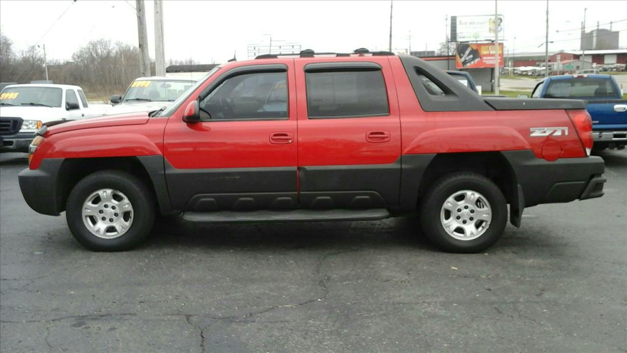 2003 CHEVROLET AVALANCHE BASE red air conditioning 4 wheel standard abs daytime running lights
