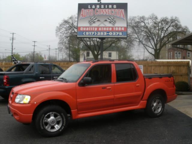 2004 FORD EXPLORER SPORT TRAC XLT 4DR 4WD CREW CAB SB orange air conditioning 4 wheel standard a