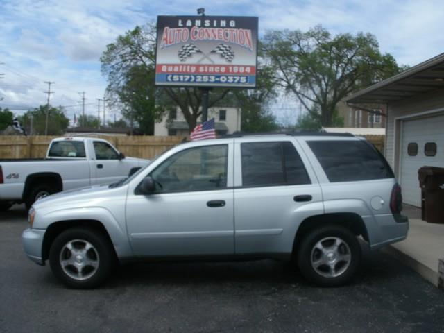 2007 CHEVROLET TRAILBLAZER LS 4DR SUV 4WD silver air conditioning 4 wheel standard abs daytime