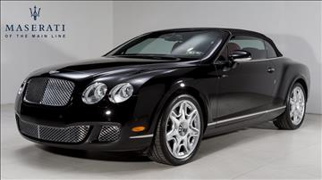 2007 Bentley Continental GTC for sale in Devon, PA