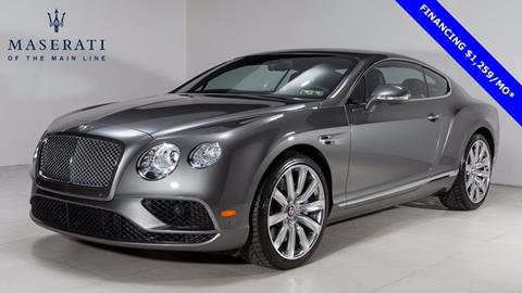 2016 Bentley Continental GT V8 for sale in Devon, PA