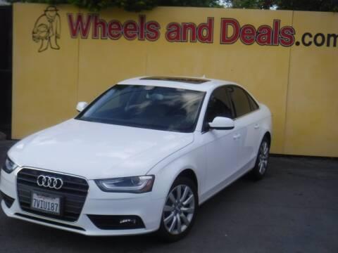 2013 Audi A4 2.0T Premium for sale at WHEELS AND DEALS in Santa Clara CA