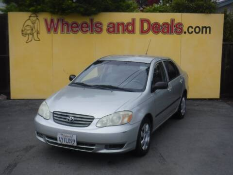 2003 Toyota Corolla CE for sale at WHEELS AND DEALS in Santa Clara CA