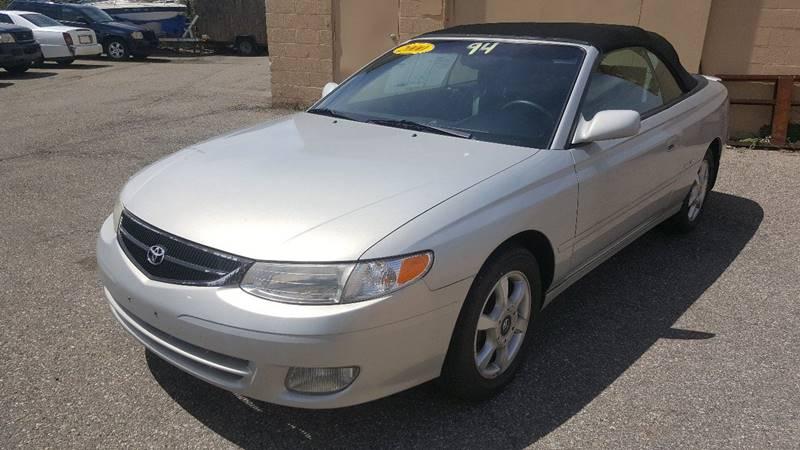 2000 Toyota Camry Solara For Sale At Prunto Motor Inc. In Dearborn MI