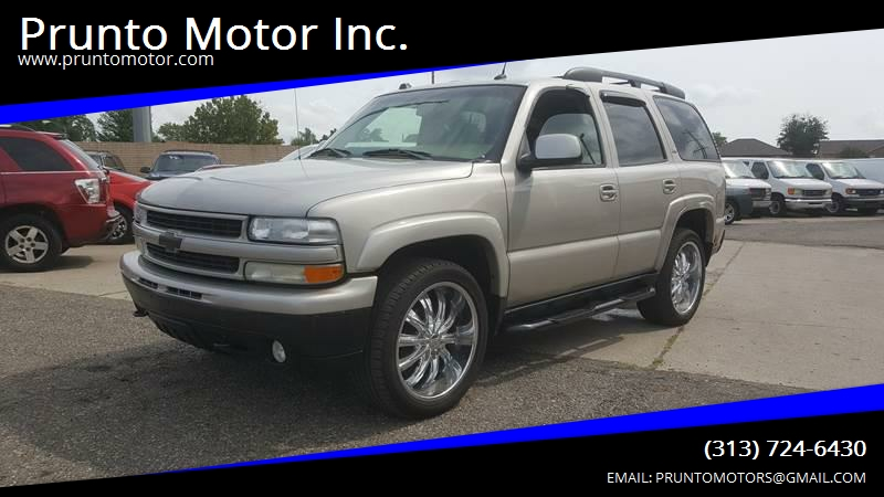 2005 Chevrolet Tahoe For Sale At Prunto Motor Inc. In Dearborn MI