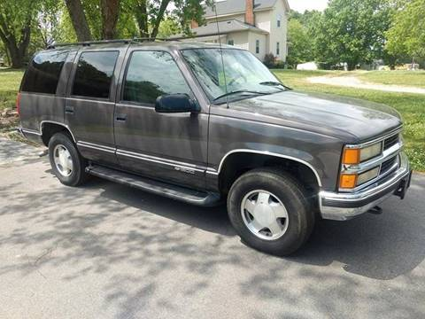 1997 Chevrolet Tahoe for sale at Happy Days Auto Sales in Piedmont SC
