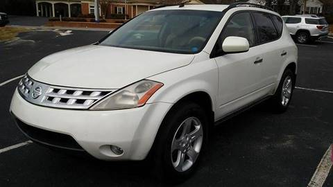 2004 Nissan Murano for sale at Happy Days Auto Sales in Piedmont SC