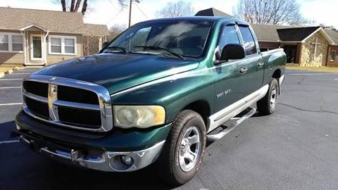 2002 Dodge Ram Pickup 1500 for sale at Happy Days Auto Sales in Piedmont SC