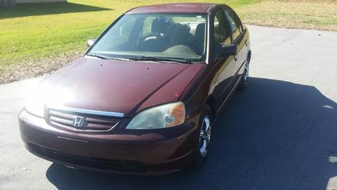 2002 Honda Civic for sale at Happy Days Auto Sales in Piedmont SC