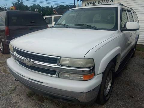 2001 Chevrolet Suburban for sale at Happy Days Auto Sales in Piedmont SC