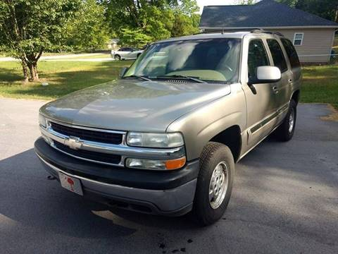 2002 Chevrolet Tahoe for sale at Happy Days Auto Sales in Piedmont SC