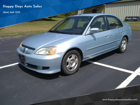 2003 Honda Civic for sale at Happy Days Auto Sales in Piedmont SC