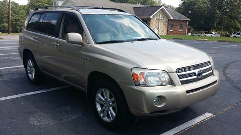 2006 Toyota Highlander Hybrid for sale at Happy Days Auto Sales in Piedmont SC