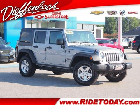 2016 Jeep Wrangler Unlimited for sale in Rockingham, NC