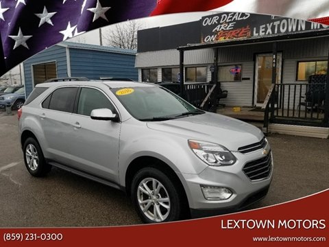 2016 Chevrolet Equinox for sale at LexTown Motors in Lexington KY