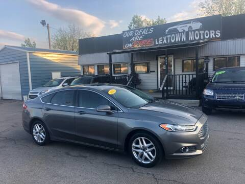 2013 Ford Fusion for sale at LexTown Motors in Lexington KY