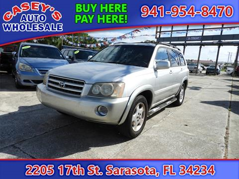 2001 Toyota Highlander for sale in Sarasota, FL