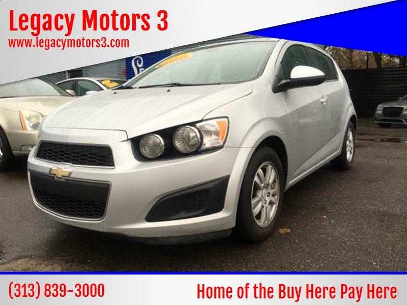 2012 Chevrolet Sonic For Sale At Legacy Motors 3 In Detroit MI