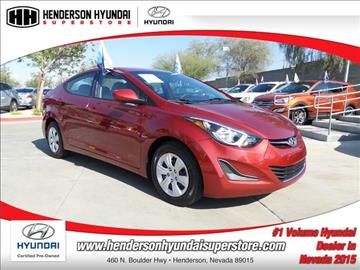 2016 Hyundai Elantra for sale in Henderson, NV