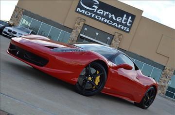 2010 Ferrari 458 Italia for sale in Houston, TX