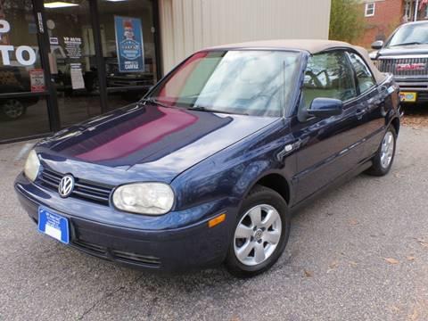 2002 Volkswagen Cabrio for sale at VP Auto in Greenville SC