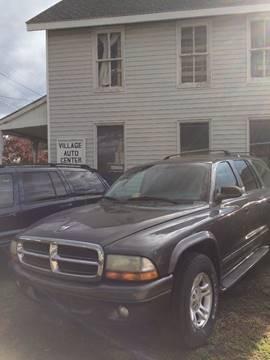 2002 Dodge Durango for sale at Village Auto Center INC in Harrisonburg VA