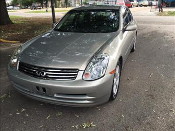 2003 Infiniti G35 for sale at Demetry Automotive in Houston TX