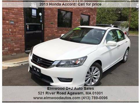 2013 Honda Accord for sale at Elmwood D+J Auto Sales in Agawam MA