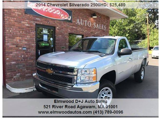 2014 Chevrolet Silverado 2500HD for sale at Elmwood D+J Auto Sales in Agawam MA