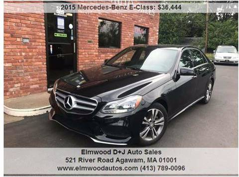 2015 Mercedes-Benz E-Class for sale at Elmwood D+J Auto Sales in Agawam MA