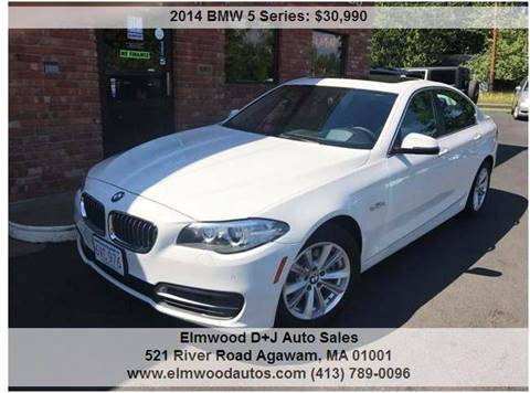 2014 BMW 5 Series for sale at Elmwood D+J Auto Sales in Agawam MA