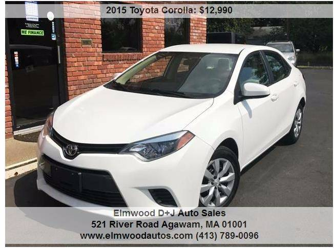 2015 Toyota Corolla for sale at Elmwood D+J Auto Sales in Agawam MA