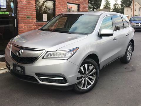 2015 Acura MDX for sale at Elmwood D+J Auto Sales in Agawam MA