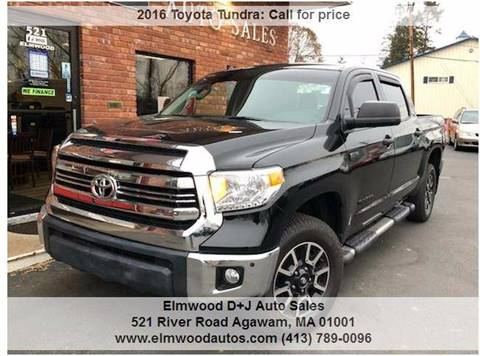 2016 Toyota Tundra for sale at Elmwood D+J Auto Sales in Agawam MA
