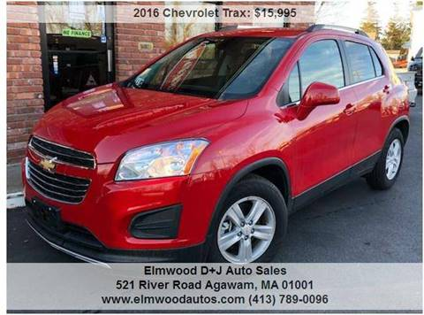 2016 Chevrolet Trax for sale at Elmwood D+J Auto Sales in Agawam MA