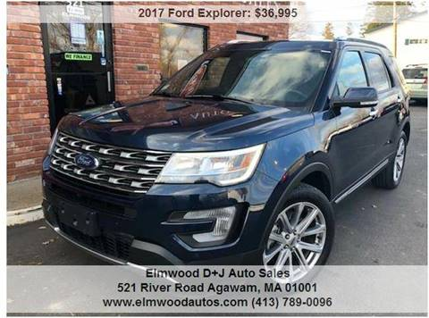 2017 Ford Explorer for sale at Elmwood D+J Auto Sales in Agawam MA