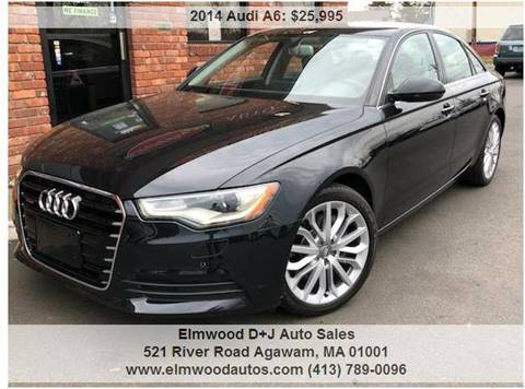2014 Audi A6 for sale at Elmwood D+J Auto Sales in Agawam MA