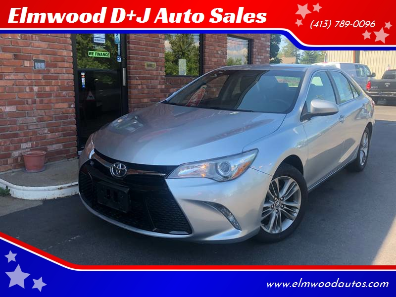2015 Toyota Camry for sale at Elmwood D+J Auto Sales in Agawam MA