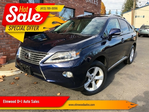 2015 Lexus RX 350 for sale at Elmwood D+J Auto Sales in Agawam MA