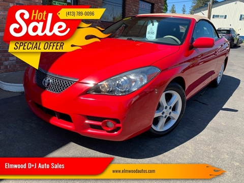 2008 Toyota Camry Solara for sale at Elmwood D+J Auto Sales in Agawam MA
