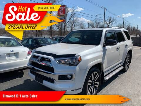 2018 Toyota 4Runner for sale at Elmwood D+J Auto Sales in Agawam MA