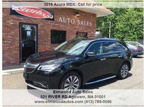 2016 Acura MDX for sale at Elmwood D+J Auto Sales in Agawam MA