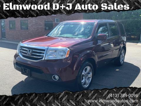 2012 Honda Pilot for sale at Elmwood D+J Auto Sales in Agawam MA