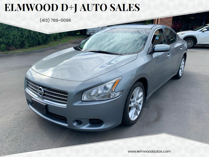 2009 Nissan Maxima for sale at Elmwood D+J Auto Sales in Agawam MA