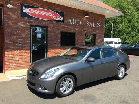 2013 Infiniti G37 Sedan for sale at Elmwood D+J Auto Sales in Agawam MA