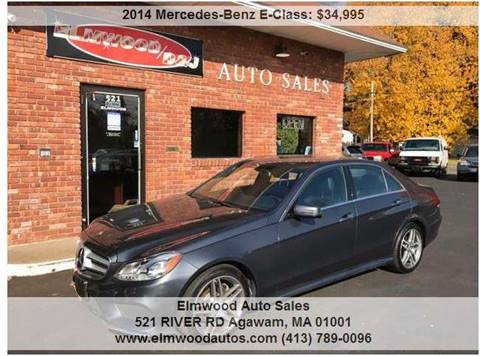 2014 Mercedes-Benz E-Class for sale at Elmwood D+J Auto Sales in Agawam MA