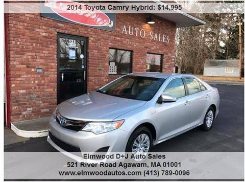 2014 Toyota Camry Hybrid for sale at Elmwood D+J Auto Sales in Agawam MA