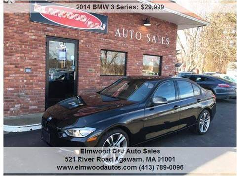 2014 BMW 3 Series for sale at Elmwood D+J Auto Sales in Agawam MA