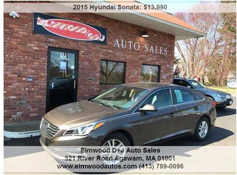 2015 Hyundai Sonata for sale at Elmwood D+J Auto Sales in Agawam MA
